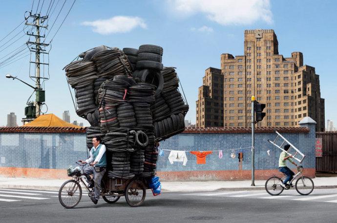 """高清图—盘点中国骑三轮车的""""高人"""""""