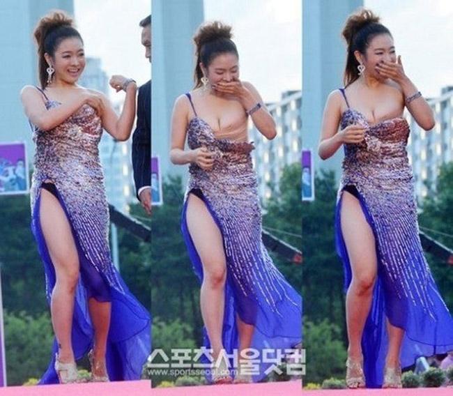 高清图—富川Fantastic国际电影节韩国女星余敏静走光