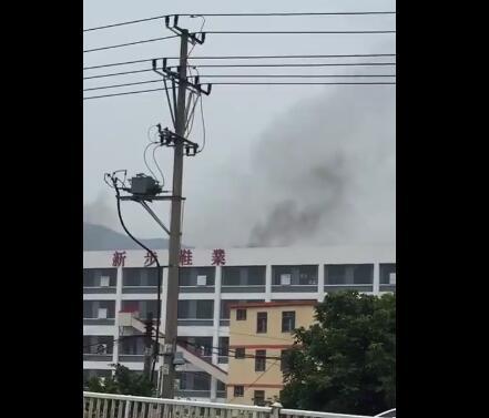 莆田市华林工业区新步鞋厂着火