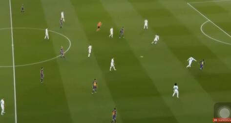 10人巴萨2-2皇马,梅西C罗进球