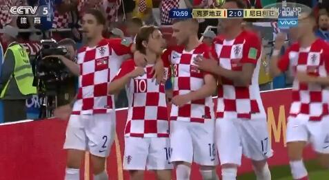克罗地亚2-0击败尼日利亚